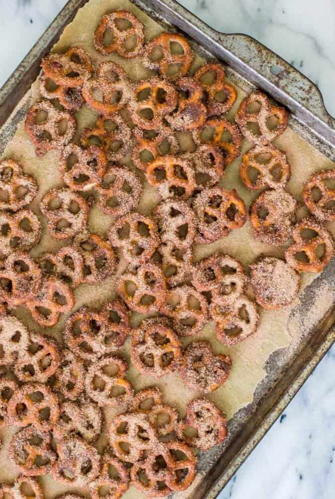 Candied pretzels - ready for the oven