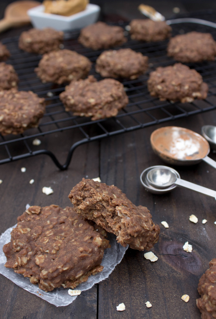 "Easy, no-bake chocolate peanut butter ""Quick Cookies"". Grab the recipe over on The Plus Side!"